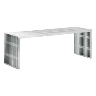 Kassidy Double Metal Bench by 17 Stories