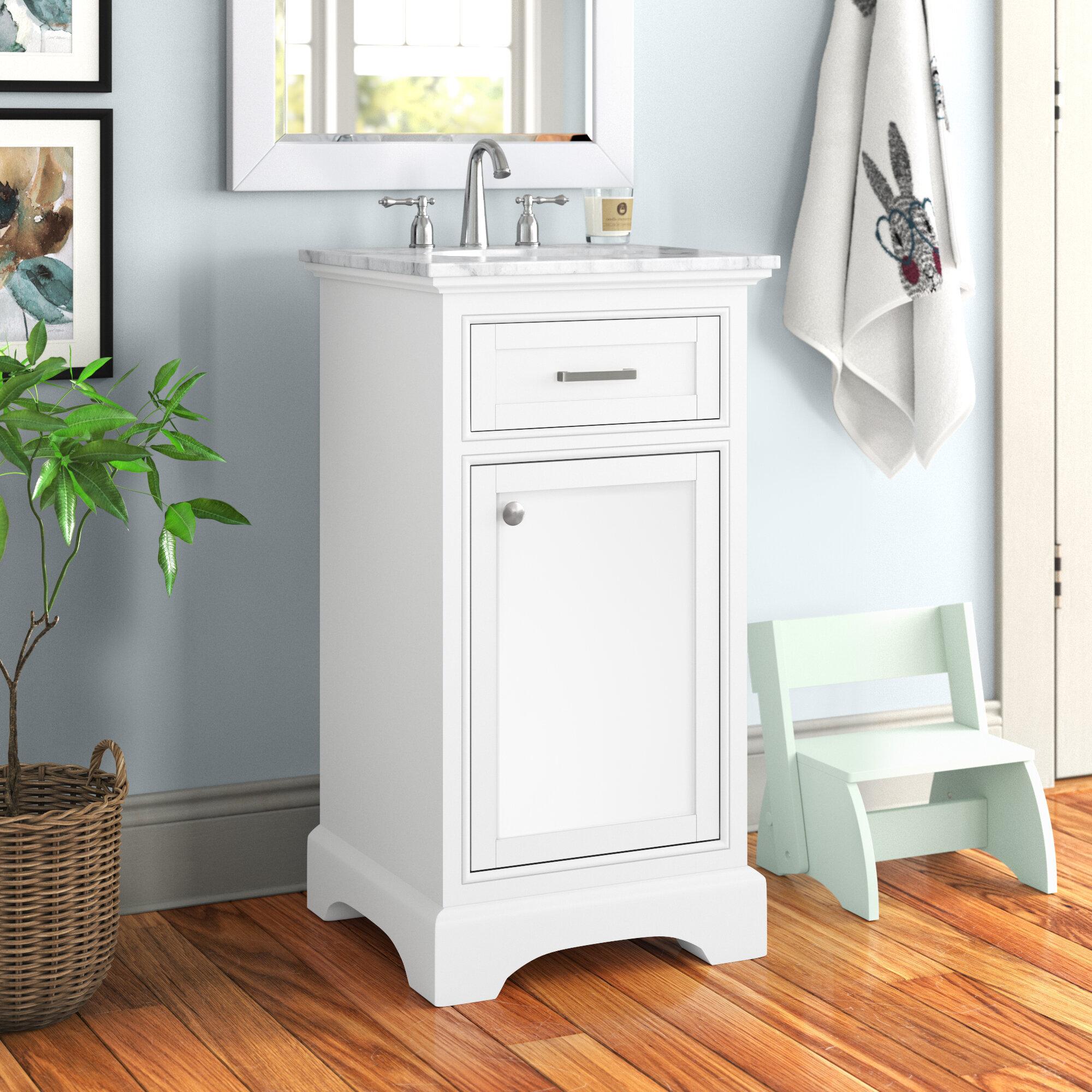 Andover Mills Rossi 19 Single Bathroom Vanity Set Reviews Wayfair