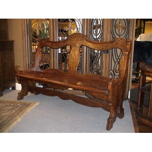 Burgundy Wood Bench by Eastern Legends