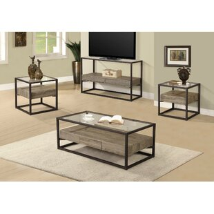 Standwood 3 Piece Coffee Table Set Union Rustic Top Reviews