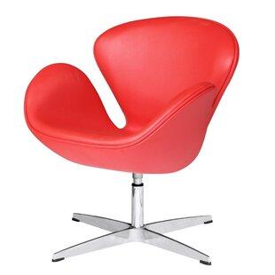 Swan Swivel Barrel Chair by Fine Mod Imports