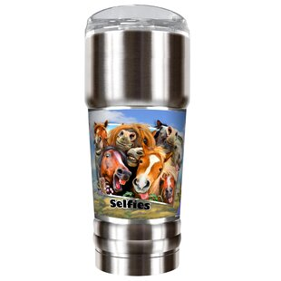 Horse Selfies 32 oz. Stainless Steel Travel Tumbler