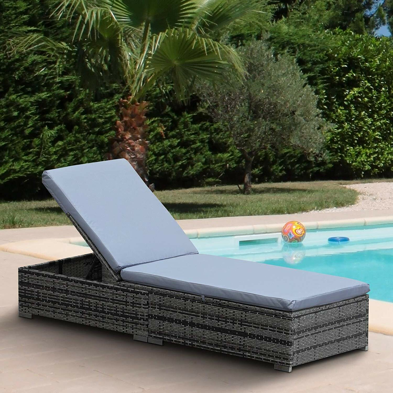 Truitt Reclining Sun Lounger with Cushion