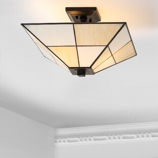 Buehler 2-Light Semi Flush Mount by Canora Grey