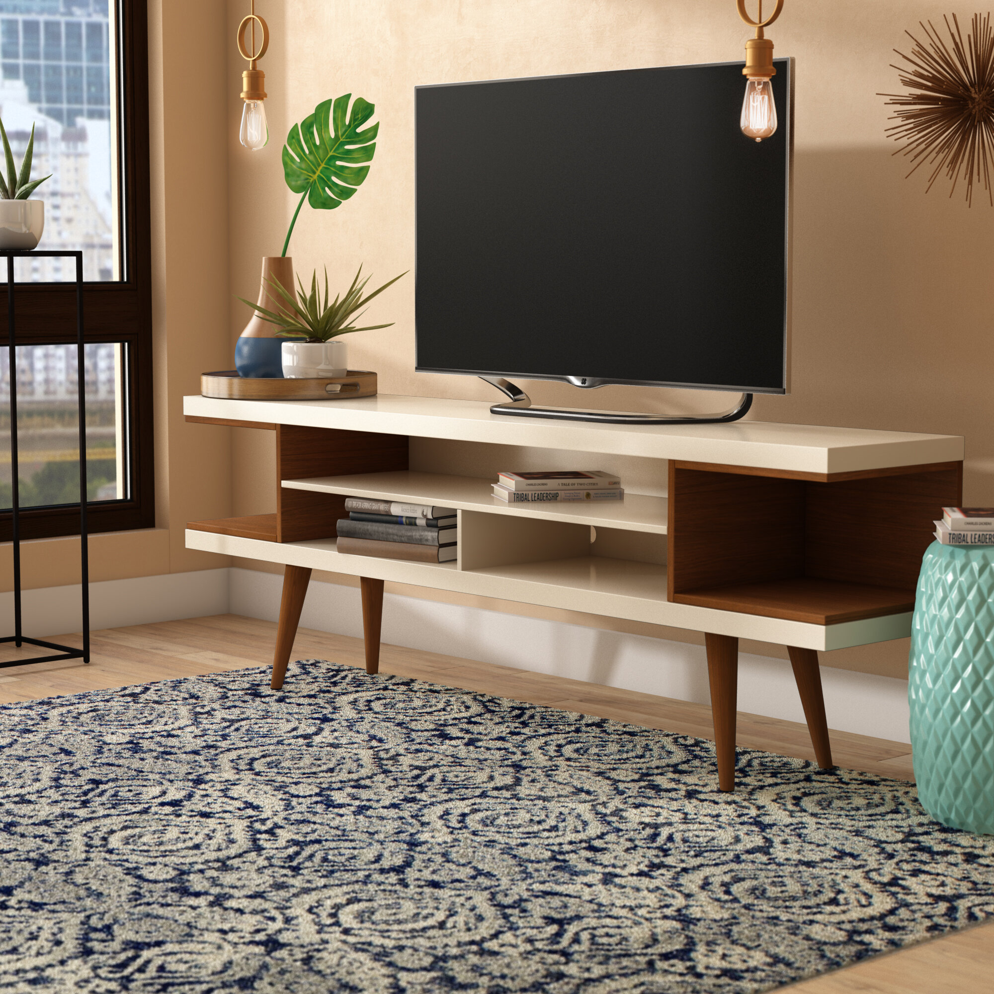 George Oliver Lemington Tv Stand For Tvs Up To 71 Reviews Wayfair
