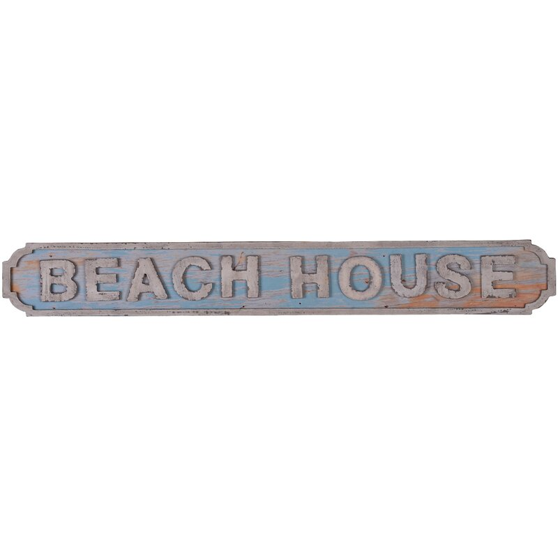 Beach House Sign Wall Décor