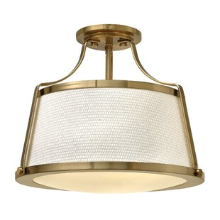 Chipley 3-Light Semi Flush Mount by Breakwater Bay