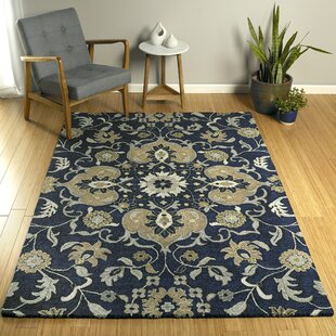 Elkmont Hand-Tufted Navy/Gray Indoor/Outdoor Area Rug by Charlton Home Great Reviews