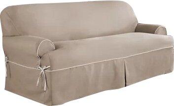 Elegant Twill T Cushion Sofa Slipcover