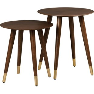 Turn on the Brights Althea 2 Piece End Table Set