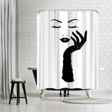 Black Lady Shower Curtain