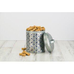 Metal 3.44 qt Pet Treat Jar