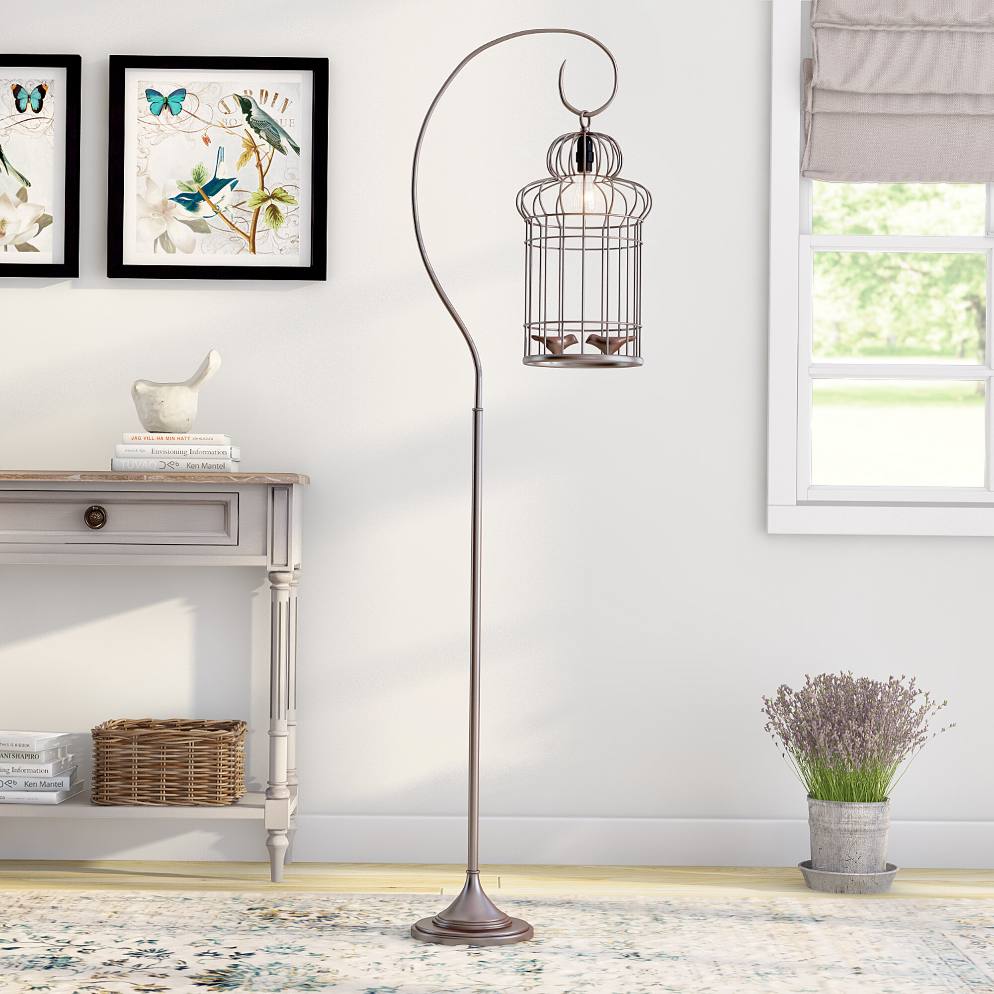 Lark manor liliane birdcage 61 arched floor lamp reviews wayfair aloadofball Image collections