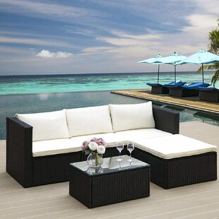 Herbst 4 Seater Rattan Corner Sofa Set By Sol 72 Outdoor