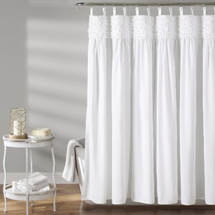 Affordable Price Aloysia Ruffle Single Shower Curtain By House of Hampton