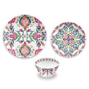 Phair Floral 12 Piece Melamine Dinnerware Set Service for 4  sc 1 st  Wayfair & Bohemian Dinnerware Sets Youu0027ll Love | Wayfair