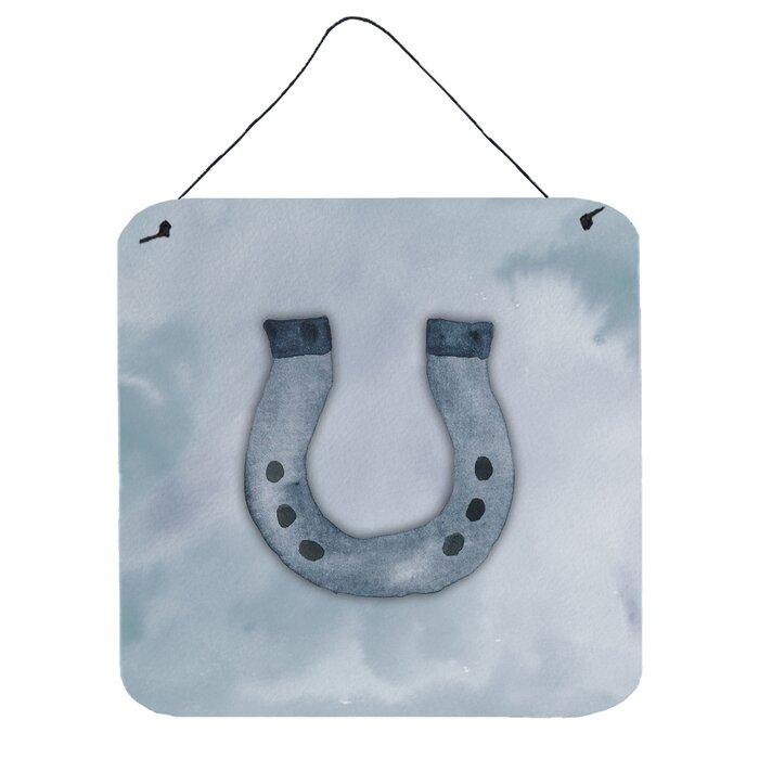 Horse Shoe Wall Décor With Hanging Rope