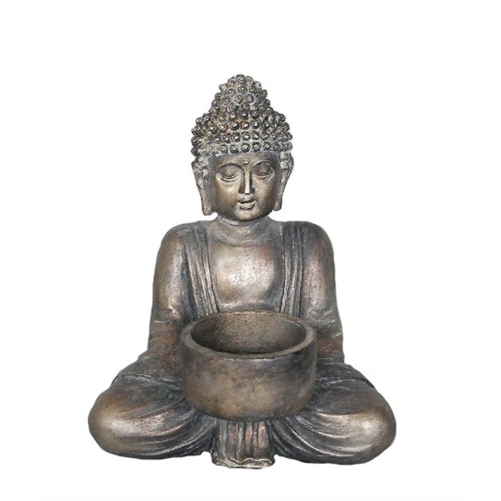 Bloomsbury Market Mebane Religious Sitting Buddha Resin Tealight Holder Wayfair