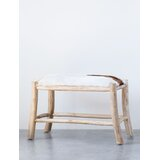 Goat Hide Bench With Wood Frame (Each One Will Vary) by Foundry Select