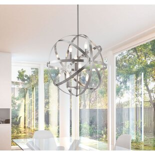 Brayden Studio Hermia 6-Light Globe Pendant