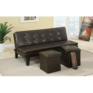 Latitude Run Akers Modern Comfort Convertible Sofa with 2 Storage Ottoman