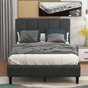 Davonn Twin Tufted Low Profile Platform Bed by Latitude Run