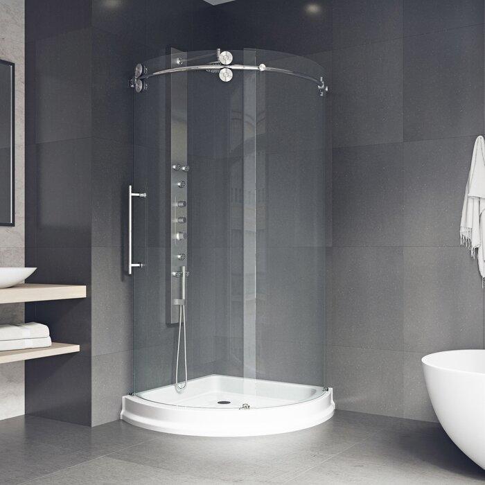 Sanibel 38 X 74 63 Round Sliding Shower Enclosure With Base Included