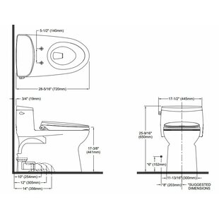 Toto Supreme II High Efficiency 1.28 GPF Elongated One-Piece Toilet