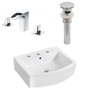 Ceramic 22 Bathroom Sink with Faucet and Overflow Royal Purple Bath Kitchen