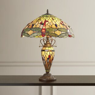 Price comparison Leslie Tiffany 24 Table Lamp By Astoria Grand