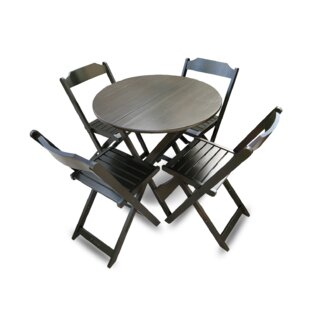 Channon Folding Round 5 Piece Dining Set ..