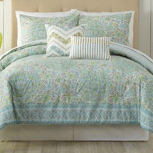 Indigo Bazzar Stamped 5 Piece Comforter Set
