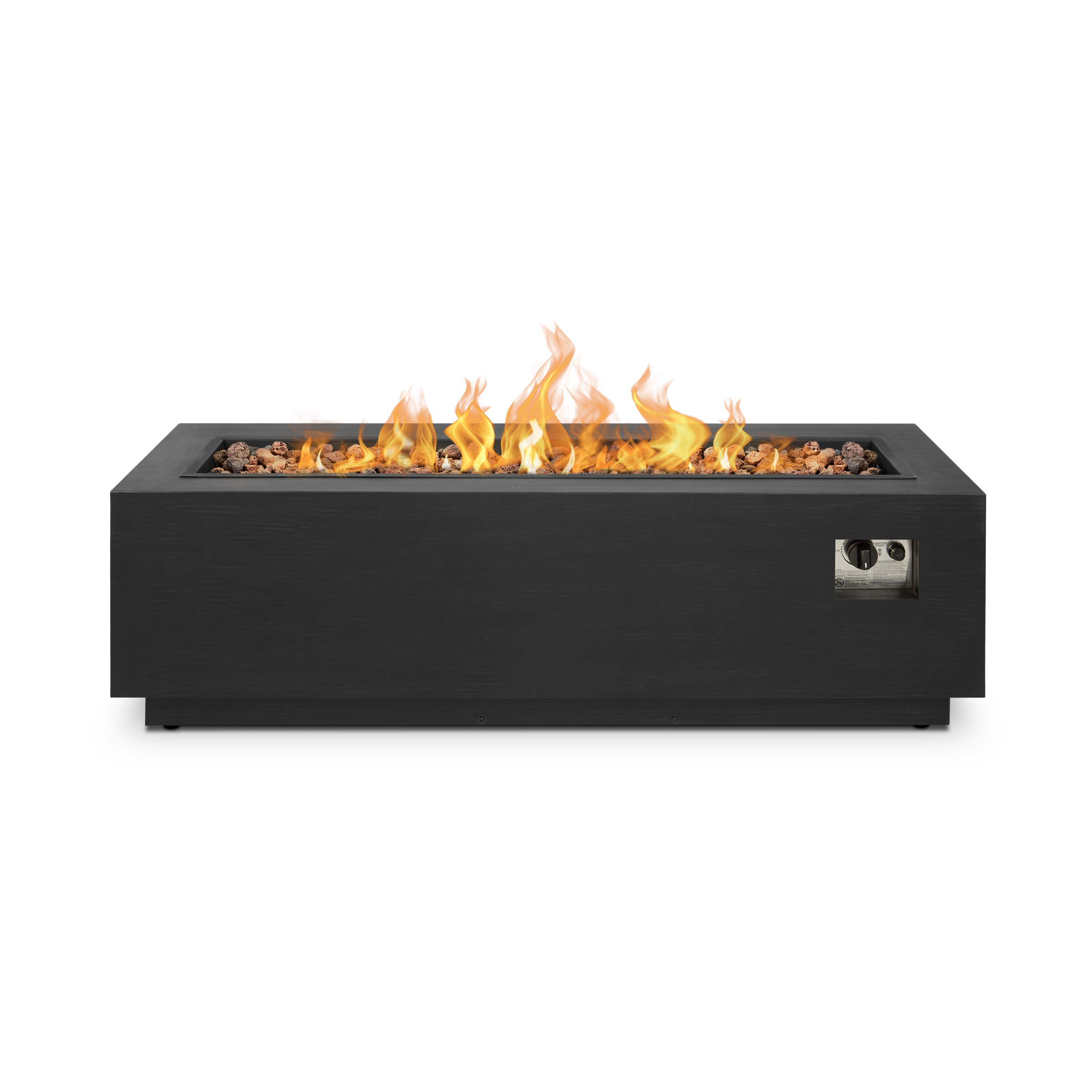 Lanesboro Rectangle Steel Propane Natural Gas Fire Pit Reviews Allmodern