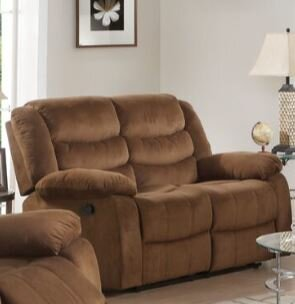 Bartolo Leather Motion Reclining Loveseat