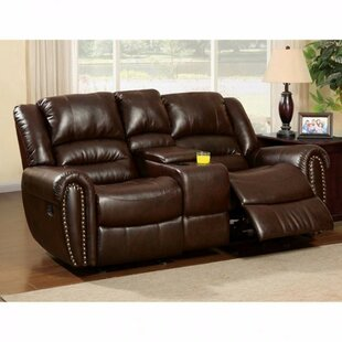Red Barrel Studio Guthrie Bonded Leather Reclining Loveseat