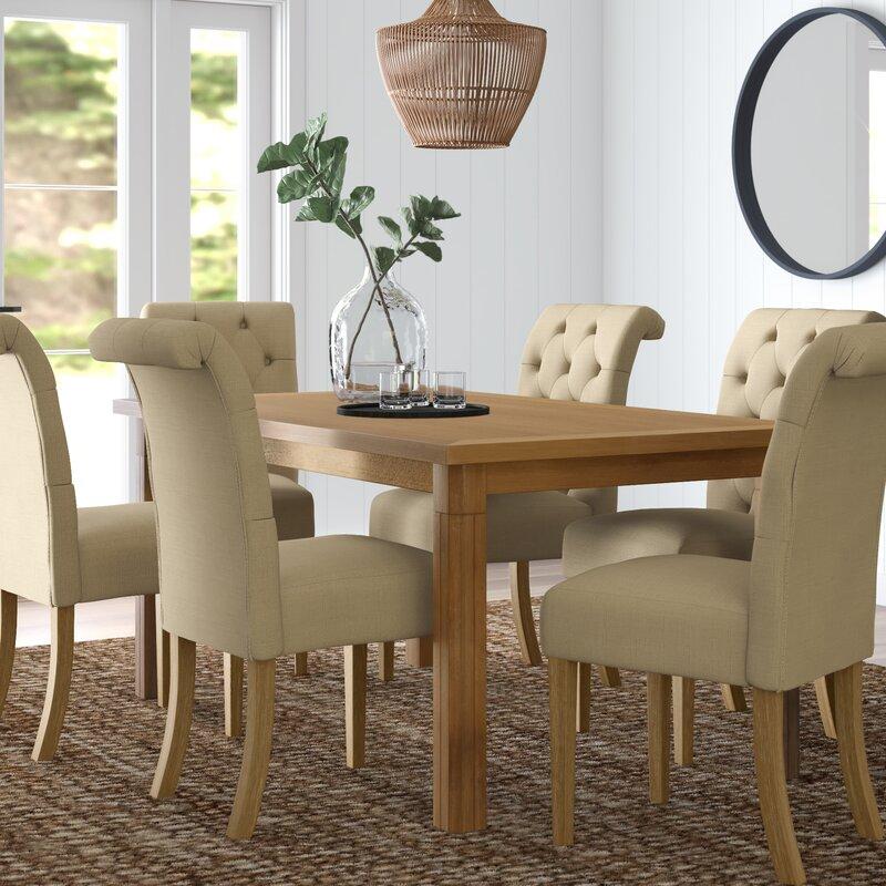 Mistana Rumi 7 Piece Solid Wood Dining Set Reviews Wayfair
