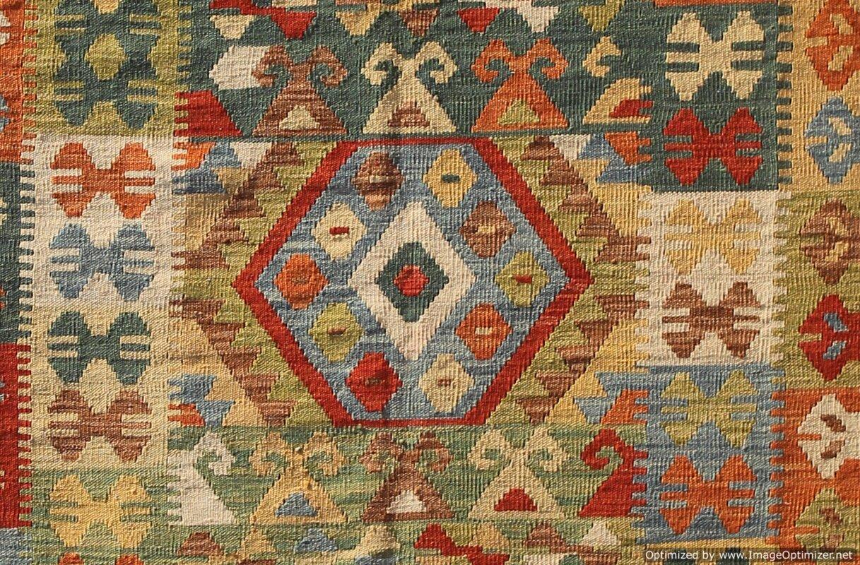 caracella handgefertigter kelim teppich fine traditional aus wolle in braun gr n bewertungen. Black Bedroom Furniture Sets. Home Design Ideas