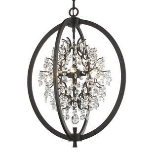 House of Hampton Merideth 4-Light Globe Chandelier