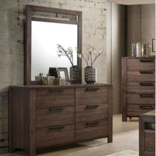 Foundry Select Ballou 6 Drawer Double Dresser with Mirror