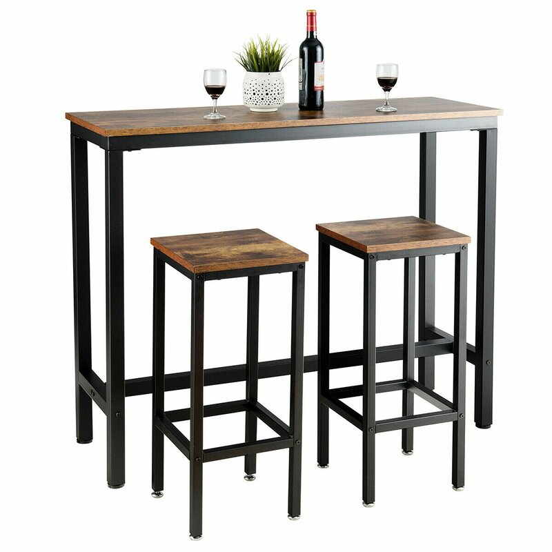 White Cane Outdoor Furniture, Williston Forge Vidette 3 Piece Counter Height Dining Table Reviews Wayfair