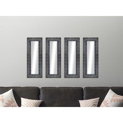 4 Piece Derrell Feathered Panels Accent Mirror Astoria Grand