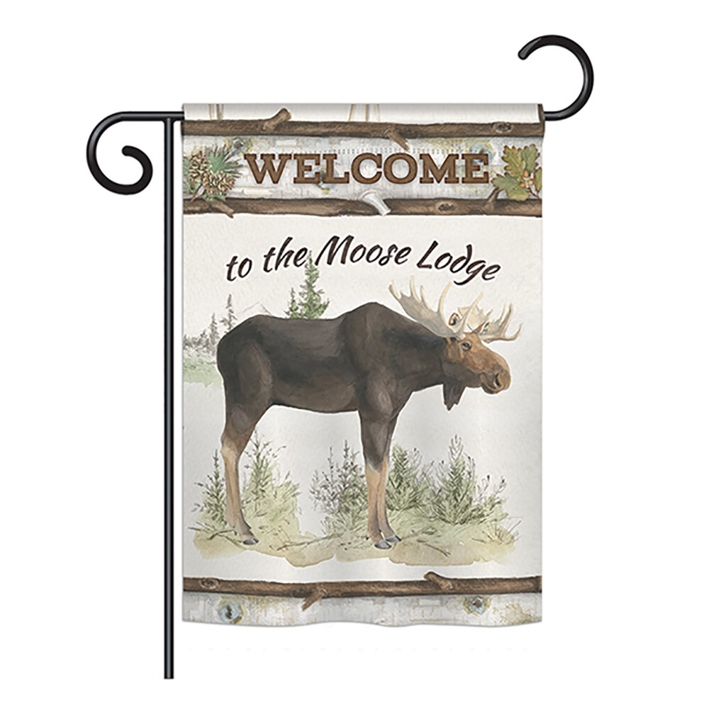 The Moose Lodge Nature Everyday Wildlife Impressions 2 Sided Polyester 1 X 6 Garden Flag