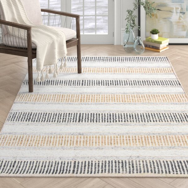 Ephraim Striped Handmade Flatweave Brown Area Rug Reviews Joss Main