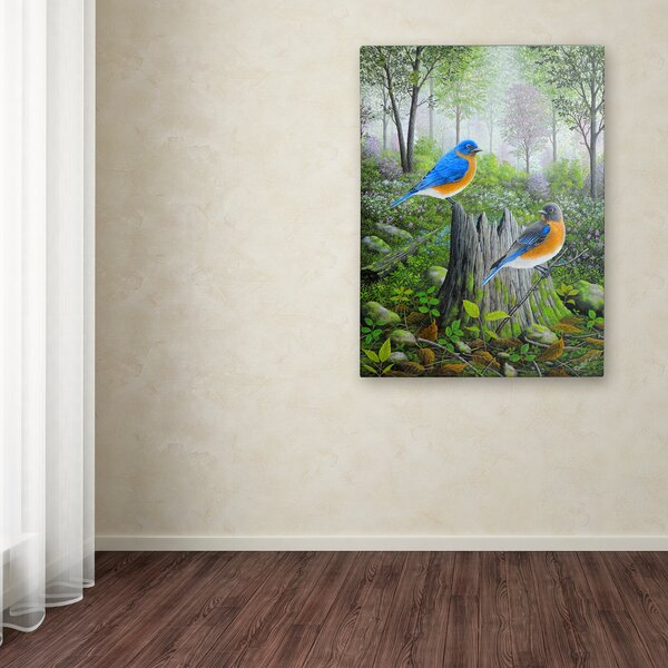 6c96ed13559 Spring Bluebird Canvas Art
