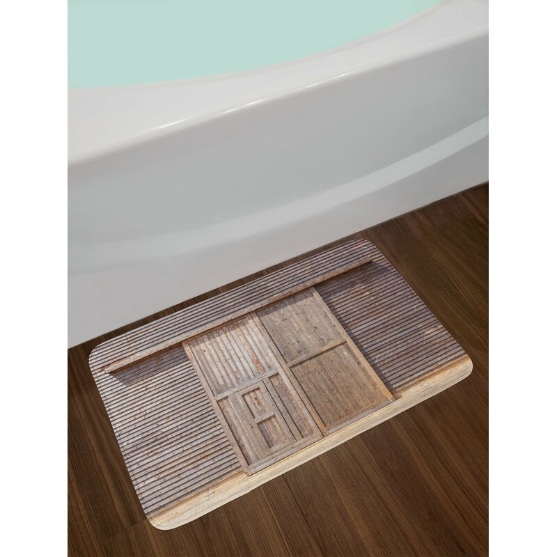 Old Wooden Bath Rug