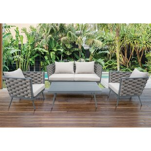 Edison Park Outdoor 4 Piece Rattan Sofa Set