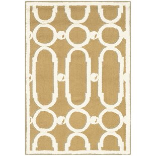 Inexpensive Sheeran Olive/White Geometric Area Rug By Wrought Studio