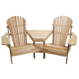 Corner Tete-a-Tete Adirondack Seat by All Things Cedar