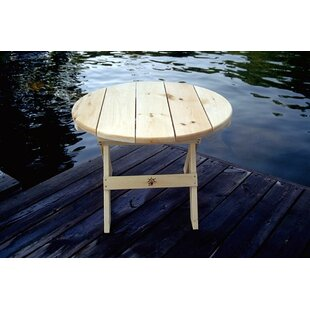 Millwood Pines Briony Round Folding Wooden Side Table