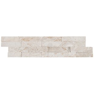 Royal Splitface Stacked Stone 6 X 24 Natural Tile In White
